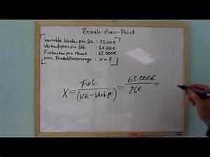 Break Even Berechnen : break even point bep berechnen verst ndliche erkl rung full youtube ~ Themetempest.com Abrechnung