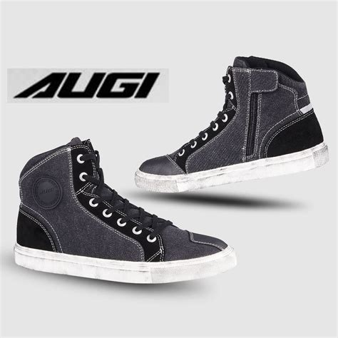 Motorcycle Riding Boots Augi Au3 for Cycle Casual | Shopee ...