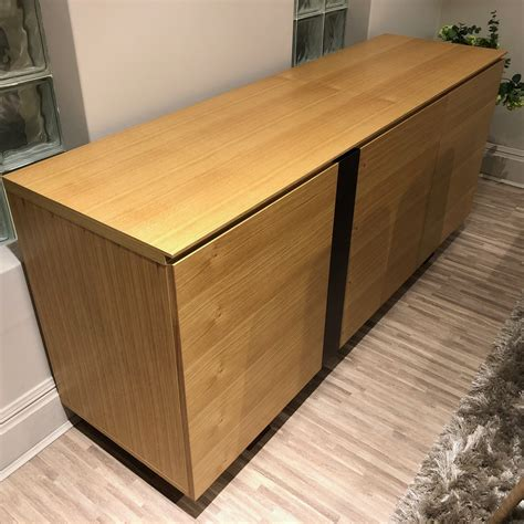 White And Oak Sideboard by Kesterport 3 Door Sideboard In White Oak Veneer