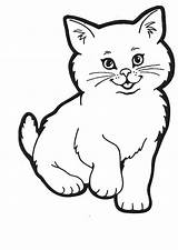 Coloring Cat Kitty Lovely sketch template