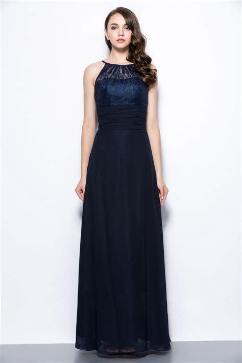 robe mariage bleu marine chic robe longue bleu marine à haut dentelle pour mariage persun fr