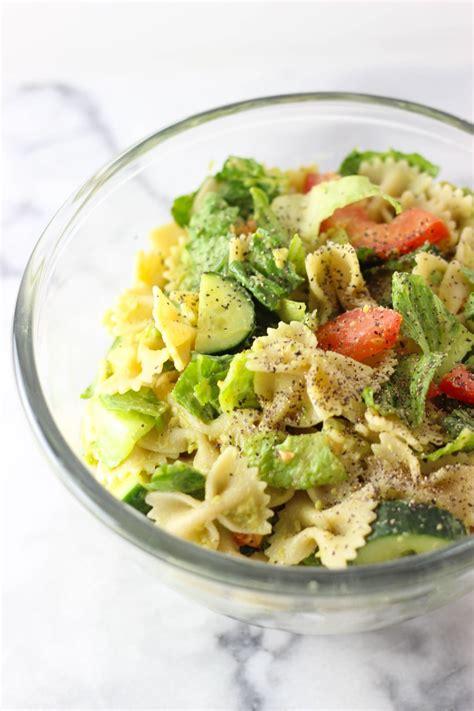 avocado pasta salad exploring healthy foods