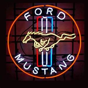 Professional Ford Mustang Shop Open Neon Sign – Custom
