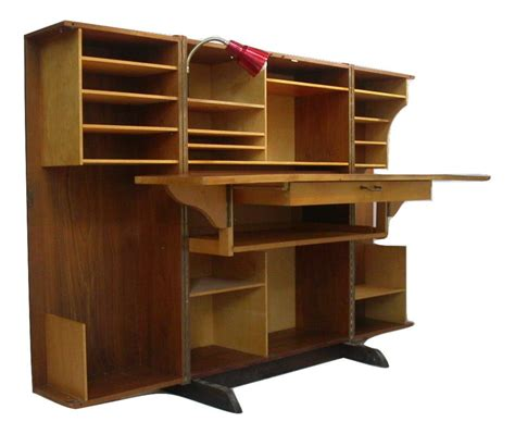 danish desk in a box danish modern teak folding magic box desk mummenthaler