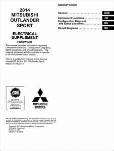 2014 Mitsubishi Outlander Sport Wiring Diagram Manual Original