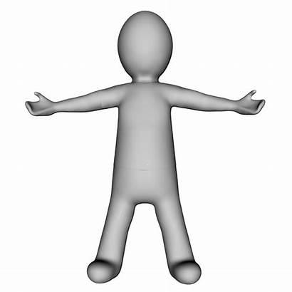 Stick Figure Grey 3d Domain Publicdomainpictures