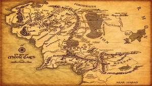 Middle Earth Map Wallpapers