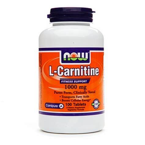 l carnitine merbi now foods l carnitine 1000mg strength tartrate