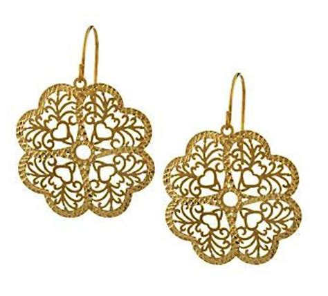 curations nycs  gold lace earrings curations nyc