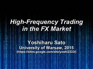 High-Frequency Trading in the FX Market
