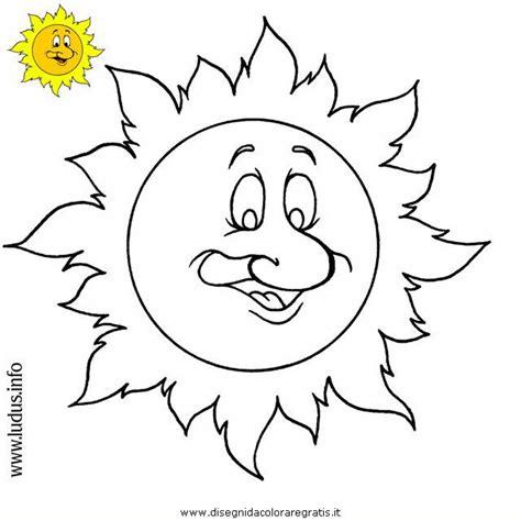 Disegno sole: personaggio cartone animato da colorare