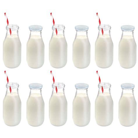 11oz Glass Milk Bottle Set Of 12 Kovot
