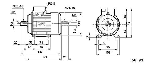 Electric Motor Dimensions by Metric 56 Frame Motor Dimensions B3 B5 B14 Iec