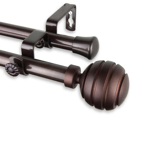 telescoping curtain rod kit rod desyne 28 in 48 in telescoping curtain rod kit in