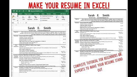 resume cv  excel fast attractive  easy