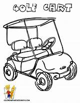 Golf Cart Coloring Cartoon Drawing Print Pages Pga Yescoloring Boys Gusto Sports Getdrawings sketch template