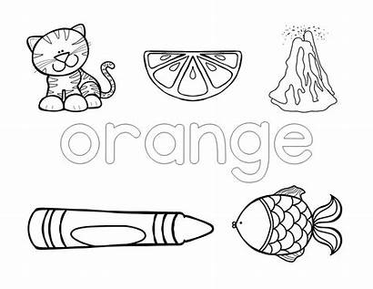 Preschool Activities Learning Toddler Coloring Colors Brown