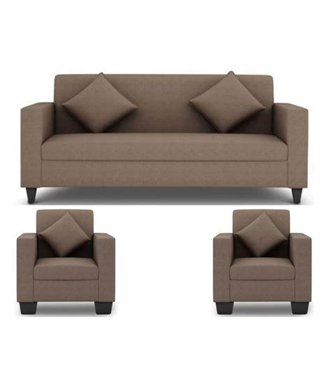 Cushion Sofa Set Price by Westido 5 Seater Sofa Set In Light Brown Upholstery With