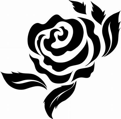 Rose Bold Leaves Stamp Rubber Clipart Stencil