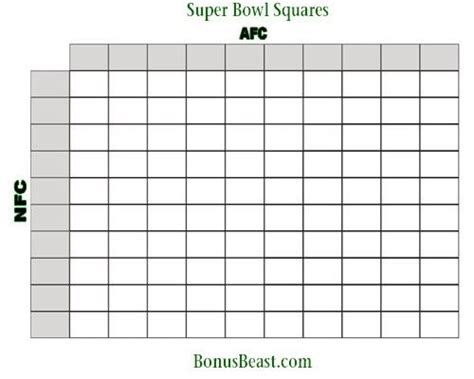 Www Free Office Football Pool by Printable Superbowl Squares Freepsychiclovereadings