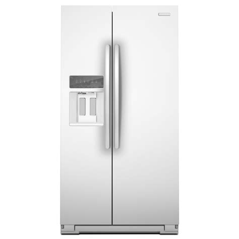 Counter Depth Refrigerator Dimensions Sears by Kitchenaid Ksc23c8eyw 22 5 Cu Ft Counter Depth Side