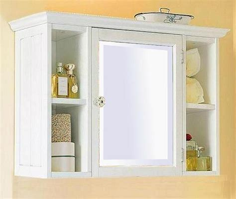 White Bathroom Wall Cabinet Without Mirror Cabinets Matttroy