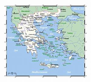 Detailed map of Greece with cities | Greece | Europe ...