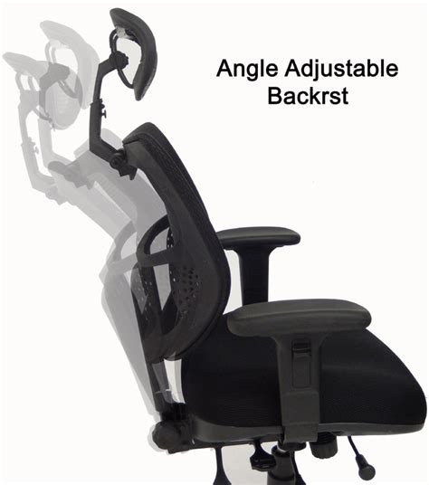 24 7 400 lbs capacity multi function mesh chair w headrest