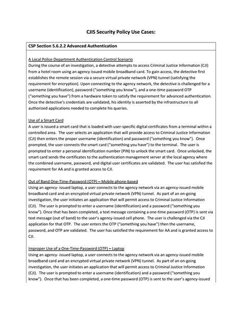 cjis security policy  cases fbi