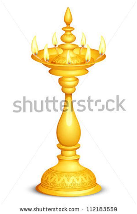 Vector Illustration Golden Diya Diwali Festival Stock