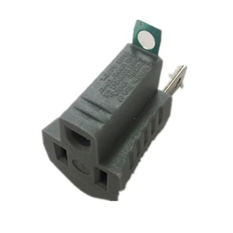 Commercial Electric 15 Amp Single Outlet Grounding Adapter