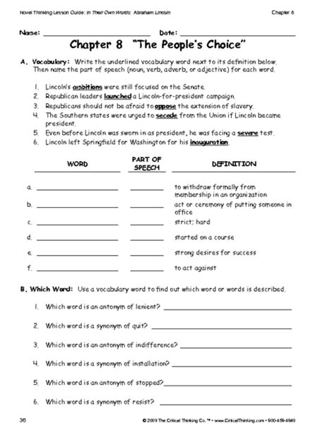critical thinking worksheet grades 6 8 vocabulary education world