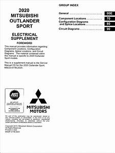 2020 Mitsubishi Outlander Sport Wiring Diagram Manual Original