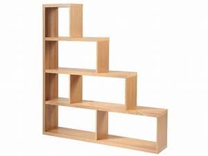 Etagere 6 Cases : etag re escalier en mdf placage bois finition weng ou ch ne kappi ~ Teatrodelosmanantiales.com Idées de Décoration