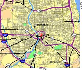 Rochester NY Zip Code Map