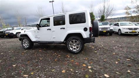 white jeep sahara 2017 2017 jeep wrangler unlimited sahara bright white