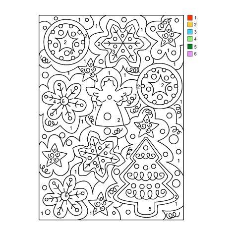 Nummer Kleurplaat by Leuk Voor Kleuren Op Nummer Kerstengeltje