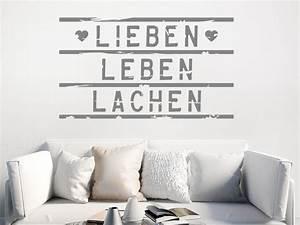 Lieben Leben Lachen : wandtattoo lieben leben lachen lightbox stil ~ Orissabook.com Haus und Dekorationen