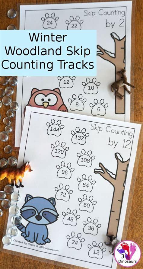winter woodland skip counting tracks work  skip