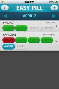 Easy pill iphone app review tapscape for Easy pill iphone app review