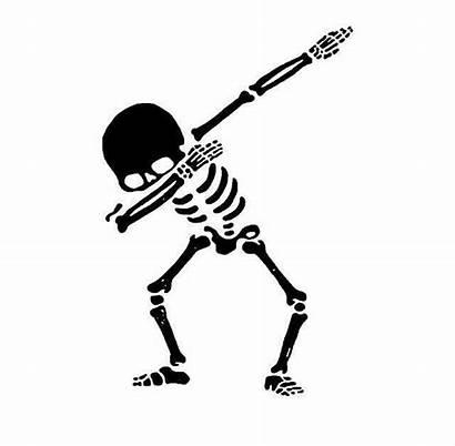 Dab Skull Skeleton Stencil Silhouette Mini Tattoos