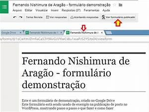 google drive como fazer formularios parte 12 With docs google spreadsheet viewform