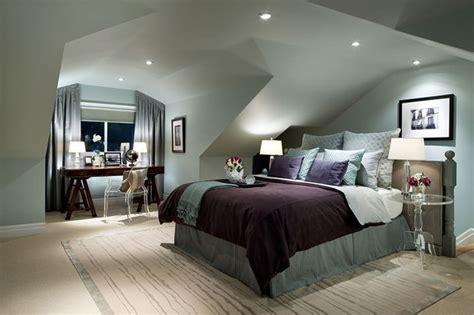 Brown And Aqua Living Room Ideas by Jane Lockhart Attic Bedroom Modern Bedroom Toronto