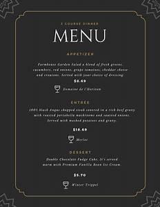 customize 70 fancy menu templates online canva With fancy dinner menu template