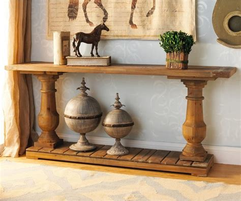 Wood turned baluster console table   Coffee Tables   by Shades of Light