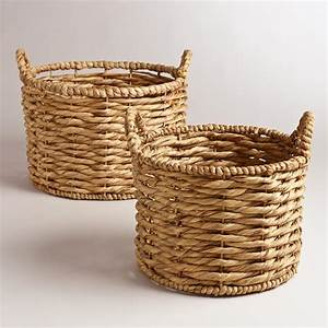 Water Hyacinth Jessica Baskets World Market