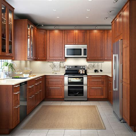 cuisine armoire brune give your kitchen a feeling of wood ikea