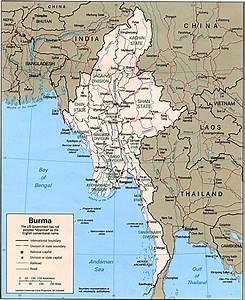 Burma Political Map  Myanmar Political Map  Map Of Burma