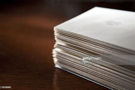 stack  envelopes stock photo getty images