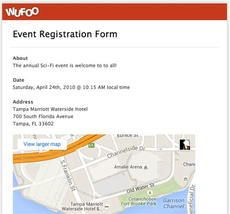 conference registration email template top 5 event registration form templates wufoo
